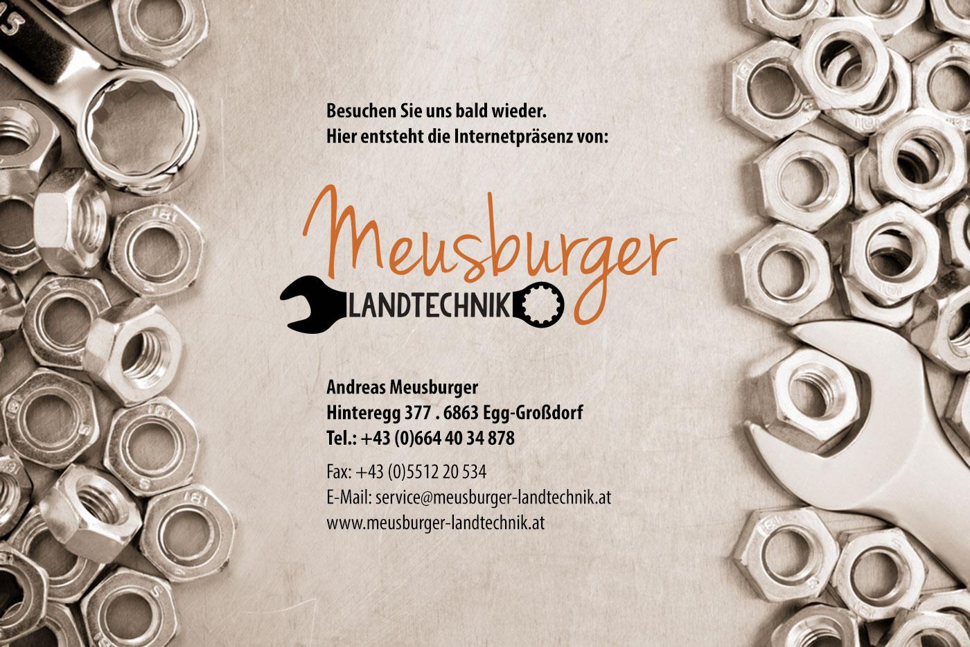Meusburger Landtechnik - jetzt neu im Bregenzerwald